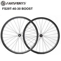 Прочные все горы колеса 40 мм в ширину 30 мм в глубину, 35 мм Внутренний в ширину, 29er горный велосипед с полностью карбоновой рамой колеса с boost hub