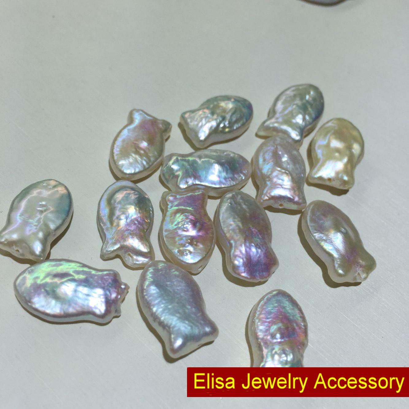 Natural Freshwater Pearl Beads Full Drilled Fish Design Baroque Pearl Jewelry Loose Pearl Keshi Pearl Designer