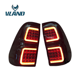 Vland Factory Car Accessories Tail Lamp for Toyota Hilux Revo Vigo 2016-2017 LED Tail Light Plug and Play Design