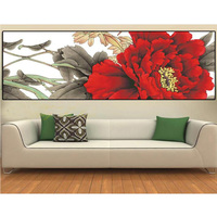 DIY 5D diamond Painting Red rose flower 5D Cross Stitch diamond embroidery embroidery sticker home wedding decor picture ZS364