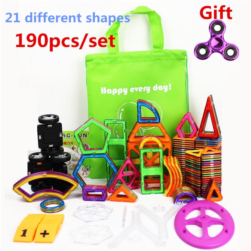 190 Pcs/Set Standard Size Magnetic Building Blocks Brick Designer Educational Toys For Children With Brochures Bags And Gift|toys for|educational toys for childrenmagnetic building blocks - AliExpress