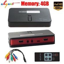 EZcap284 HD Game Capture 1080 P HDMI/AV/Ypbpr Video Capture Recorder Box in USB Festplatte Sd-karte für Xbox360/PS3 Ein/4