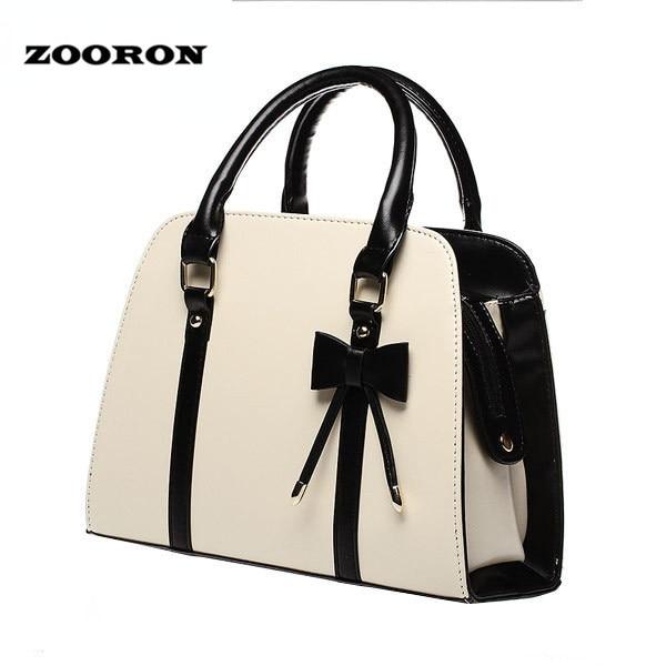 Zooron 2017 Pretty Women S Single Shoulder Pu Leather Shell Handbag Lady Fashion Bowknot Handbags Crossbody In Bags From Luggage