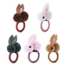 Милые животные, кролик, плюшевая повязка для волос, войлочные заячьи ушки, детские заколки для волос, повязка для волос для девочек, кольцо для детей, подарок на Пасху для девочек