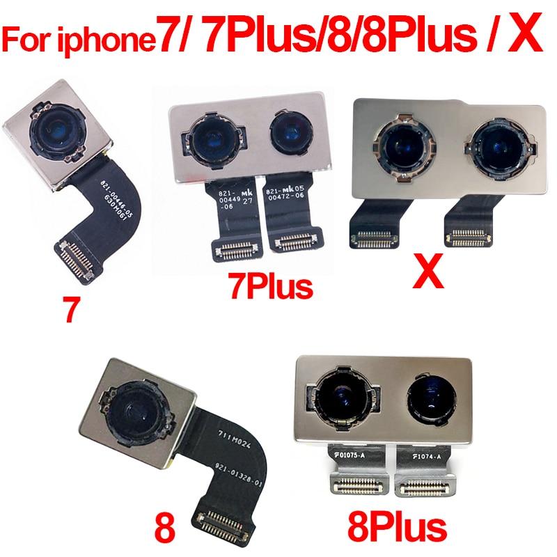 Original Back Rear Camera Flex Cable Ribbon Main Camera Module For iPhone 7 7Plus 8 8Plus Plus X Replacement Repair PartsOriginal Back Rear Camera Flex Cable Ribbon Main Camera Module For iPhone 7 7Plus 8 8Plus Plus X Replacement Repair Parts
