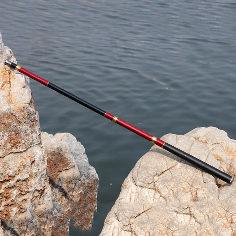 7.2M Glass Fiber Spinning Hand Fishing Rod Telescopic Stream 2.7M