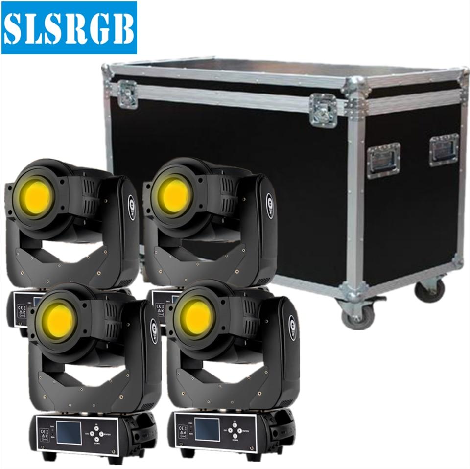 4pcs/lot Flight case 90W LED moving head Spot light LED Disco DJ Party Stage Lights Led dj light Disco Party Club Pub Show Band