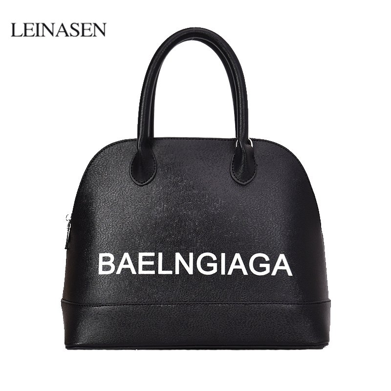 Luxury Women Shell Handbags Big Capacity Letter Print Women Shoulder Bags Crossbody Bags for Women 2018 louis gg bag Sac A Main letter print raglan hoodie