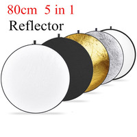 NEEWER 32 Inch 80CM Portable 5 In 1 Collapsible Round Multi Disc Light Reflector For Studio