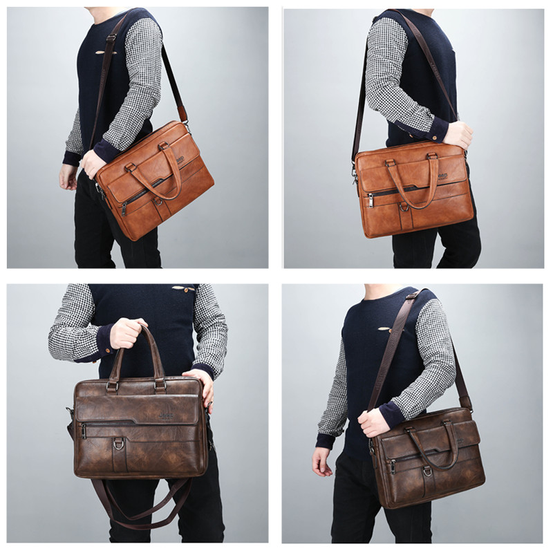 HTB1YylUXRWD3KVjSZFsq6AqkpXaR JEEP BULUO Brand Man Business Briefcase Bag Split Leather High Quality Men office Bags For 14 inch Laptop A4 File Causel Male