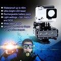 Gopro Bateria À Prova D' Água LEVOU Luz De Vídeo 40 M Subaquático Mergulho Câmera Adaptador de Montagem para GoPro Hero 4/3 +/3/2/1 Xiaomi SJ4000
