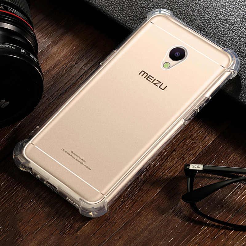 حافظة شفافة من السيليكون لهاتف Meizu M6 Note M6s funda حافظة مضادة للصدمات من البولي يوريثان الحراري لهواتف Meizu M3 Note M3s eتوي coque tok husa