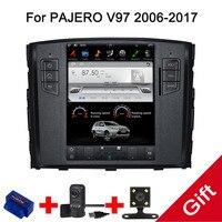 10,4 Тесла Тип Android 7,1/6,0 Fit MITSUBISHI PAJERO V97 2005 2010 2011 2012 2013 2014 dvd плеер автомобиля навигация gps радио