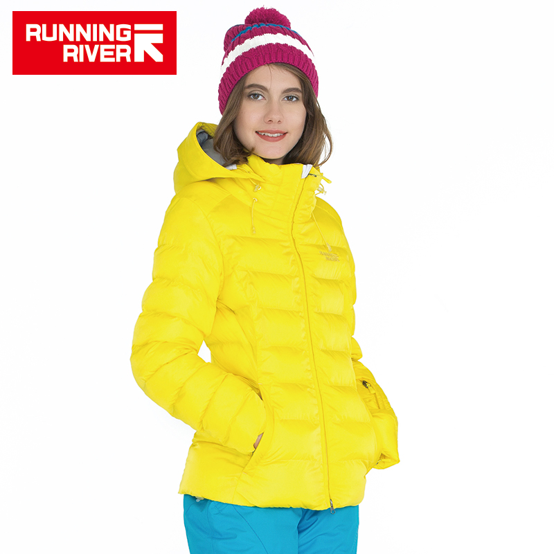 RUNNING RIVER Brand Woman Winter Down Jacket For Sports Women Hooded Waterproof Warm Outdoor Jackets Sport