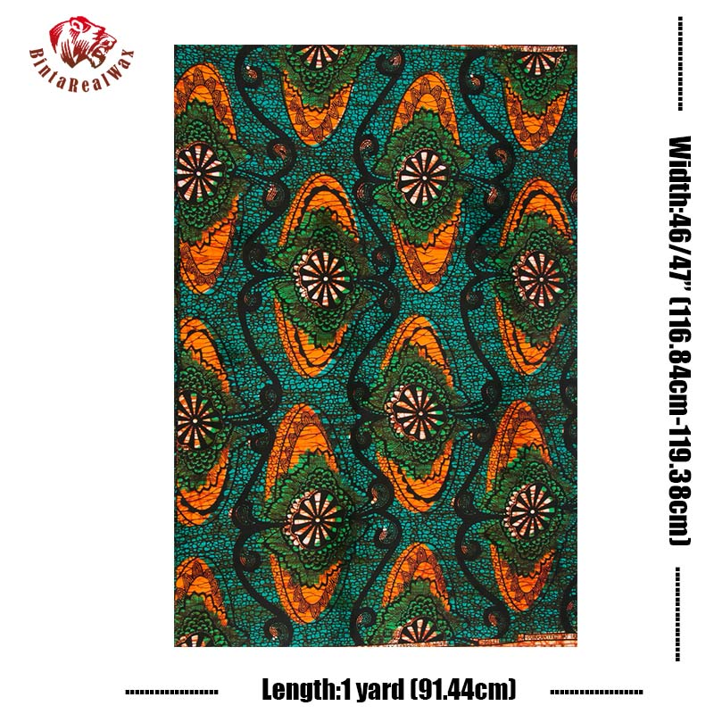 Ankara Fabric African Real Wax Print 100% Cotton High Quality Veritable Wax Real Wax Prints African Wax Print Fabric PL335-in Fabric from Home & Garden    1