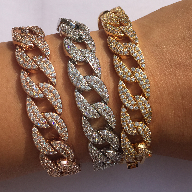 Luxurious AAA Zircon Elements hemp rope  shape Crystal Bracelet Fashion Jewelry Made with  Wholesale