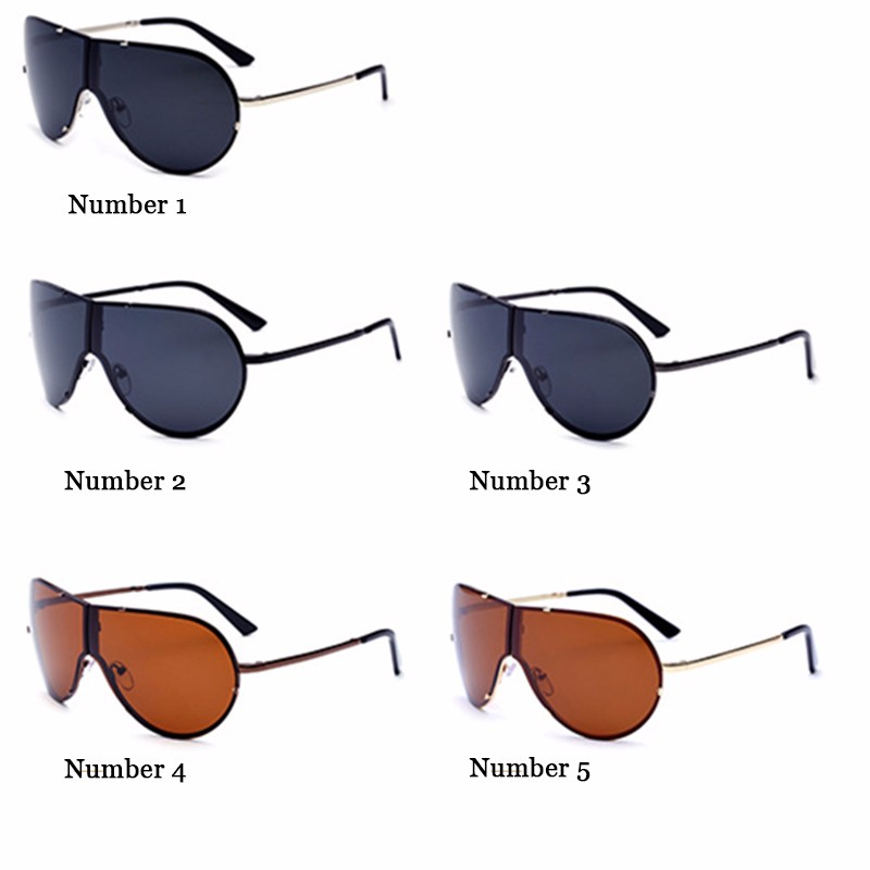 Lager Motorcycle Sunglassses Men Women Oversize Frameless Sunglasses Foldable Glasses Big Moto Goggles 8487 (12)