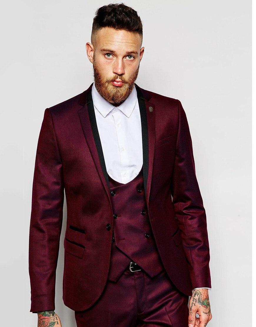 High Quality Burgundy Men Blazers-Buy Cheap Burgundy Men Blazers ...