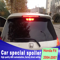 2004 2005 2006 2007 for honda Fit jazz Punching install ABS Material rear window roof spoiler Unpainted Primer Spoiler