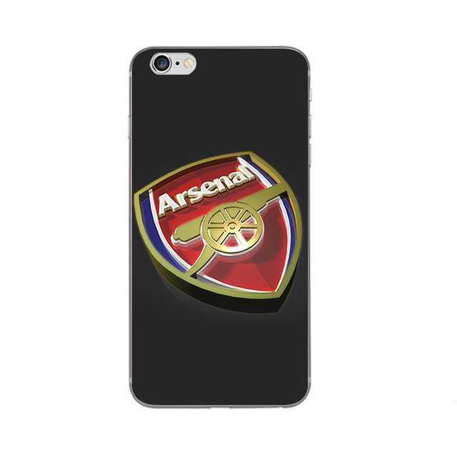 Phone Case For Apple iPhone 7 Plus Shell 5 5C SE 6 6S Plus Back Cover 4.7 5.5 Inch Cellphone Soft TPU Arsenal Design Painted