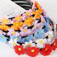 H9Flower Crown Wedding Festival Headband Hairband Floral Garland Headpiece Beach Headwear