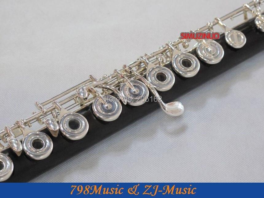 Ebenholz Grenadilla Flöte-B Fuß-Open Hole-Split-E-Inline-G-Europa - Musikinstrumente - Foto 3