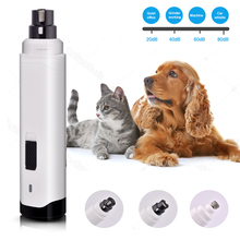 2-Speed Electric USB Charging Rechargeable Pet Nail Drill Painless Paws Grooming Smoothing Trimmer Dog Cat Nail Grinder Clippers стоимость