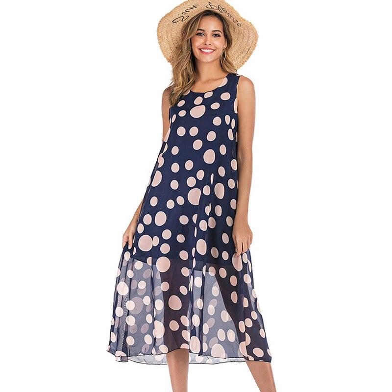 Женское платье-пачка Lossky, длинное платье-пачка средней длины с цветочным принтом и о-вырезом, без рукавов