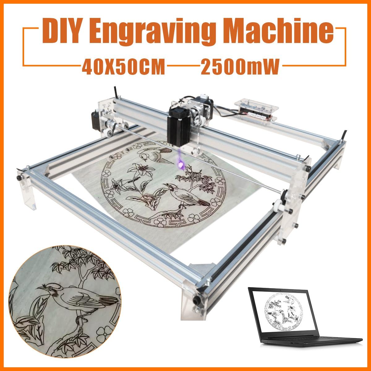 2500mW DC 12V 40X50CM DIY Desktop Mini Laser Cutting/Engraving Machine Printer Carving with Laser Goggles