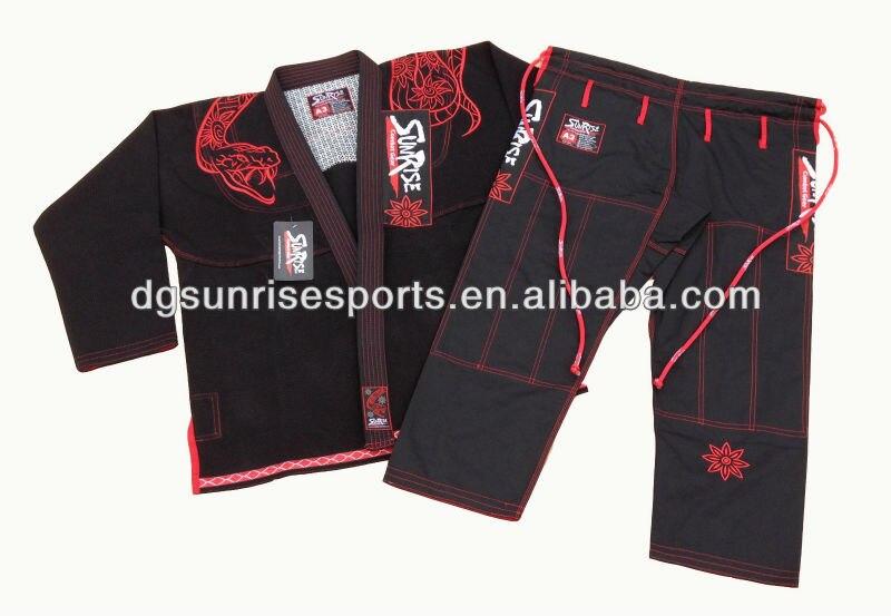 Free Shipping Black BJJ Kimonos BJJ Gi Brazilian Jiu Jitsu Gi 100 Preshrunk Cotton Pearl Weave