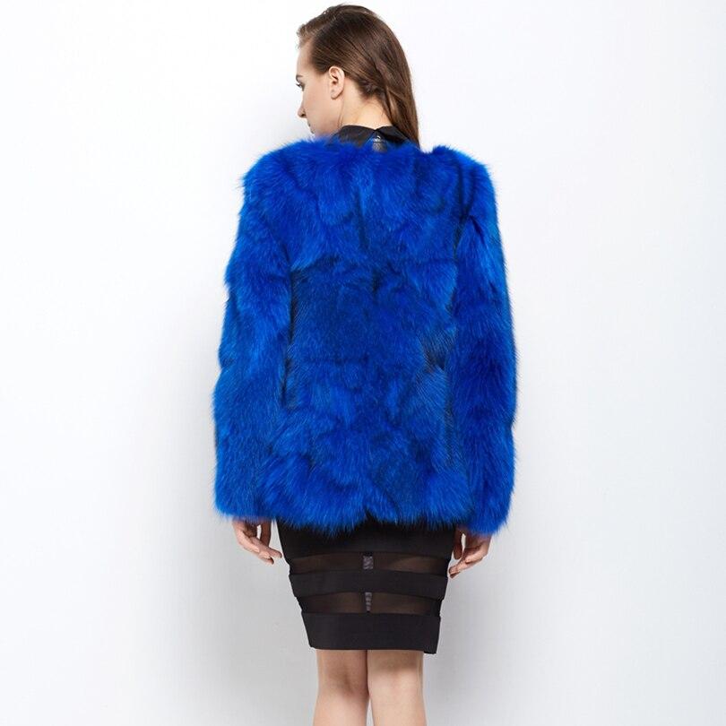 Réel Renard Pelt bleu Rouge Outwear Femmes Gilet Haut Fourrure Manteau De Épaissir Pour Slim Gamme Dames Femal Manteaux Pleine Véritable Naturelle Vêtements ZrFEqr