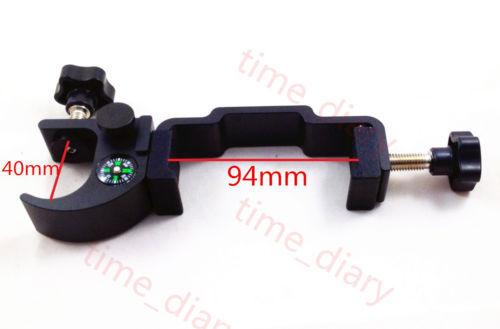 NEW GPS RTK DATA COLLECTOR CRADLE POLE CLAMP WITH COMPASS FIT 72mm 94mm