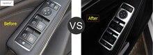 цена на Lapetus Accessories For Mercedes Benz CLA W117 GLA X156 200 220 2014 - 2018 Inner Door Armrest Window Switch Control Cover Trim