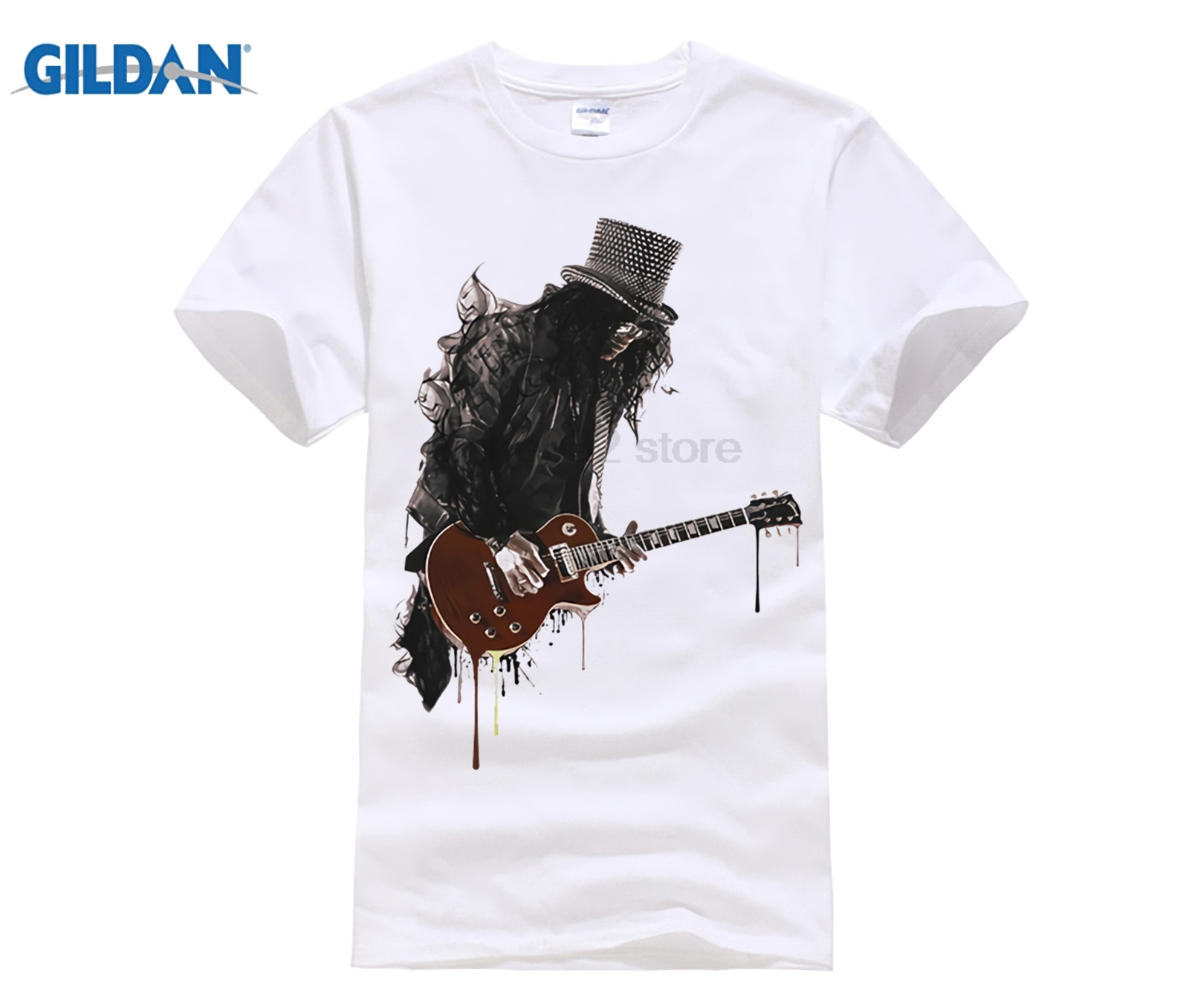 SLASH GUITAR ROCK GUNS AND ROSES IDEAL GIFT BIRTHDAY PRESENT SHORT SLEEVE TSHIRT