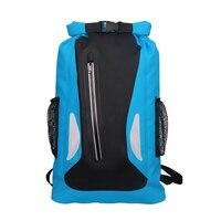 25L Outdoor River Trekking Backpack Waterproof Bag Camping Hiking Backpacks Dry Bag Drifting Swimming Bags Double Shoulder Strap