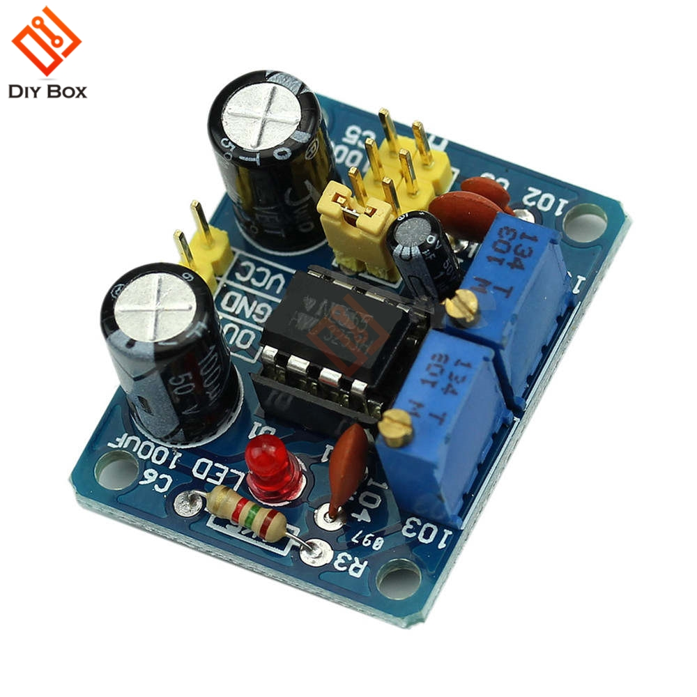 Ne555 Pulse Frequency Duty Cycle Square Wave Rectangular Signal 555 Generator Circuit Adjustable Board Ne555p Module