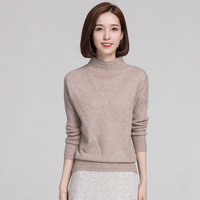 Autumn Winter New Women S High Neck Cashmere Sweater Fashion Hollow Stripes Design Knitted Pullover Soft