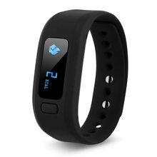 Движение шагомер мониторинг сна Bluetooth умный Браслет (черный)
