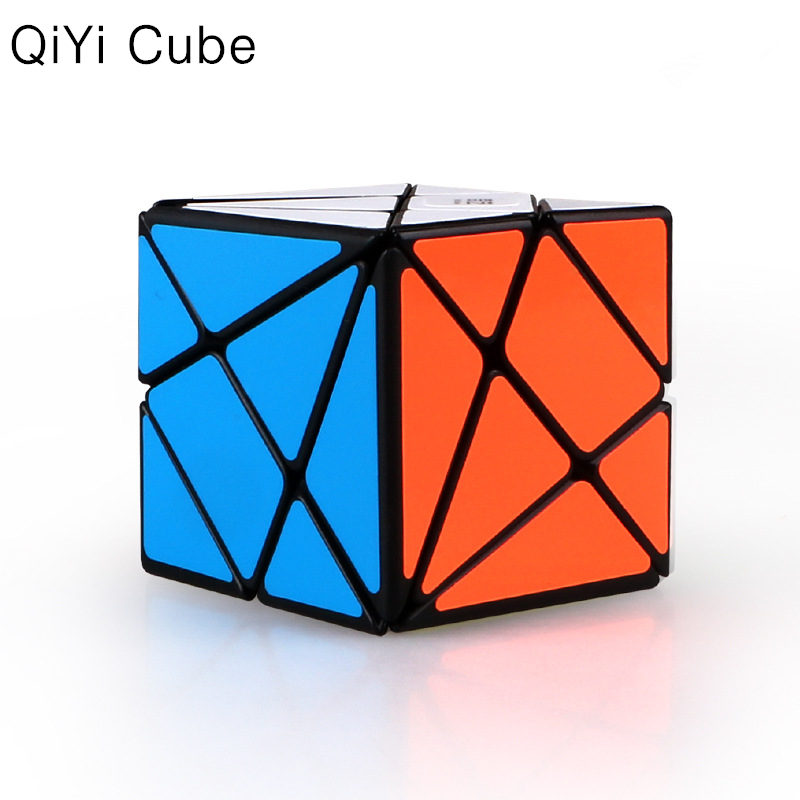 QIYI Axis Magic Cube Change Irregularly Jinggang Professional Puzzle Speed Cube With Frosted Sticker 3x3x3 Black Body Cube
