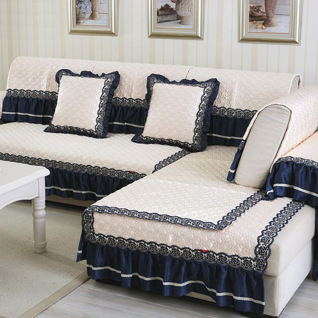 Europäischen stil creme weiß tuch sofa abdeckung spitze patchwork ...