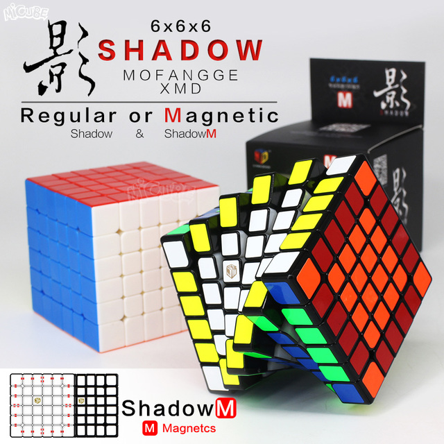 Qiyi Mofangge Magnetic Cube Shadow 6x6 Cubo Magico 6x6x6 ShadowM Speed Professional Puzzle Regular Magnetic 6x6 Magic Cube