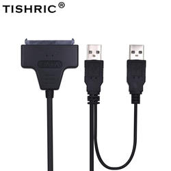 TISHRIC 2018 горячий SATA к USB 2,0 до 7 15 22pin адаптер Кабели внешняя мощность для 2,5 ''Ssd Hdd жесткий диск конвертер