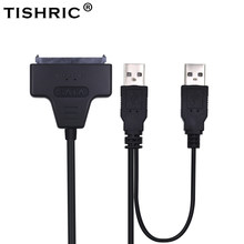 TISHRIC 2018 Hot SATA to USB 2.0 To 7 15 22pin Adapter Cables External Power For 2.5'' Ssd Hdd Hard Disk Drive Converter(China)