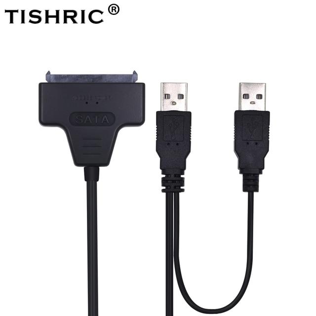 TISHRIC 2018 Hot SATA để USB 2.0-7 15 22pin Adapter Cáp Điện Bên Ngoài Cho 2.5 '' Ssd Hdd Hard Disk Drive chuyển đổi