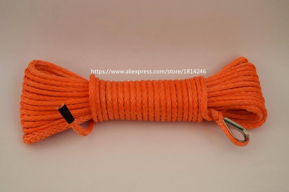 4mm*15m Orange Synthetic Winch Rope,ATV Winch Line 4mm,Kevlar Winch Rope,Plasma Rope ...