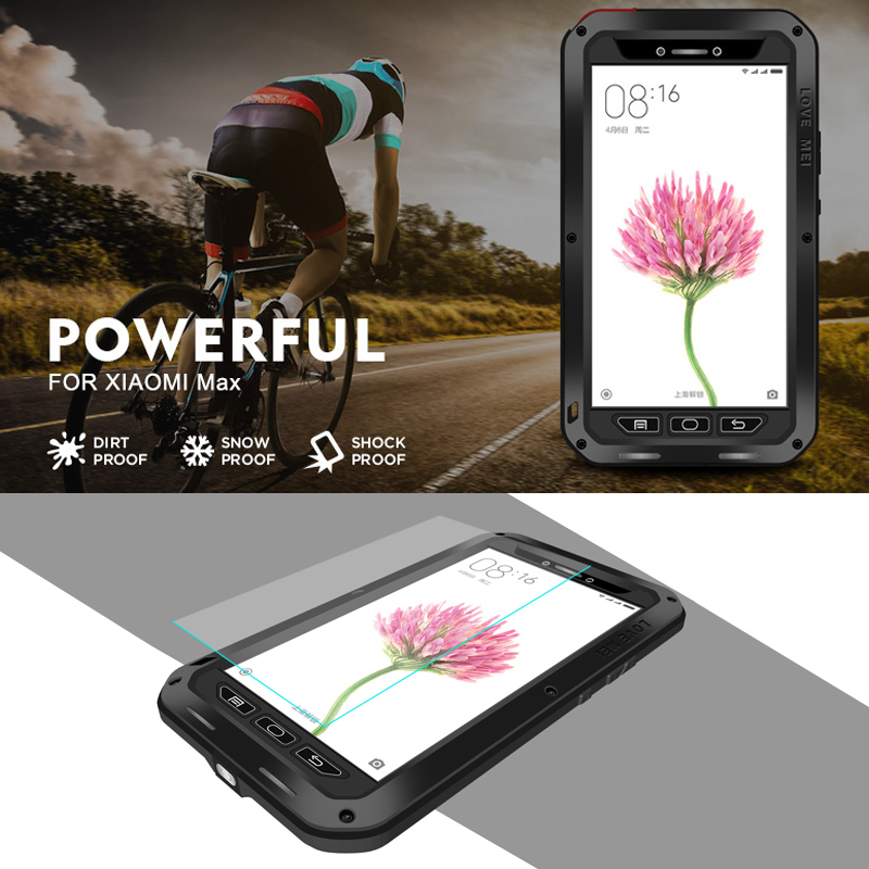 Love Mei Powerful For Xiaomi Mi Max Armored Hybrid Cover Case Waterproof Case Fundas Housing Water