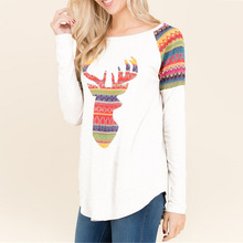 merry christmas women t-shirts plus size tee top woman love female tshirt long sleeve tops gothic shirt