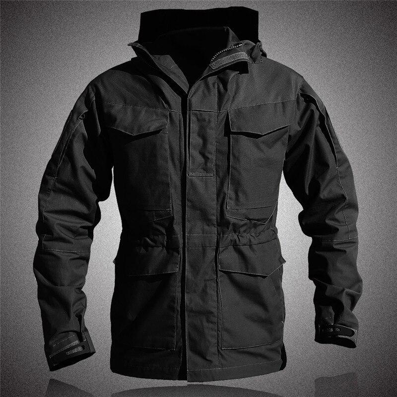 M65 UK US Army Clothes Outdoor Tactical Windbreaker Men Winter Autumn Waterproof Flight Pilot Coat Hoodie