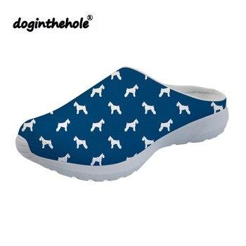 Sandalias Malla Agua Para Con Verano Estampado Zapatos De Deportivas Playa Perros Doginthehole 2019 Mujer Schnauzer dorCxBe