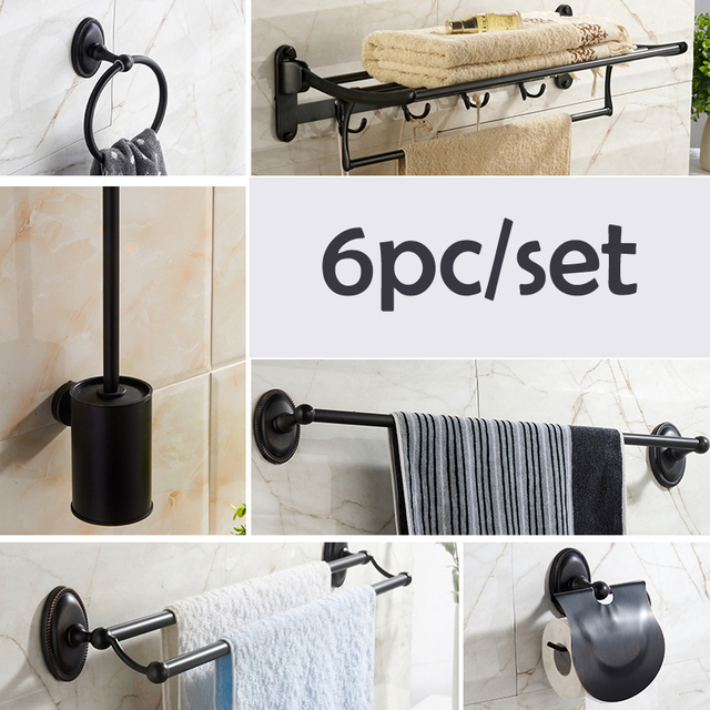 Venetian Bronze Bathroom Accessories Oil Rubbed Bronze Bathroom Accessories Set Stainless Steel Alloy Paper  Holder Single-Double Towel Bar